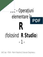 08c Operatiuni Elementare in R (Executate in R Studio) - 1