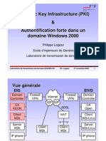 Public Key Infrastructure (PKI) & Authentification forte dans un domaine Windows 2000