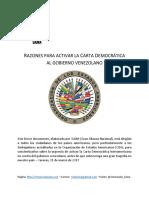 Razones para Activar la Carta Democrática