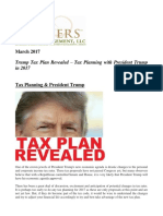 Trump Tax Plan Revealed - Tax Planning With President Trump in 2017 - Gevers Wealth Management LLC, March 2017