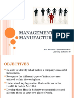 3 W & L - Management of Manufacture - Organisations