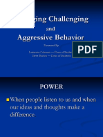 managing challenging and aggressive behavior print version