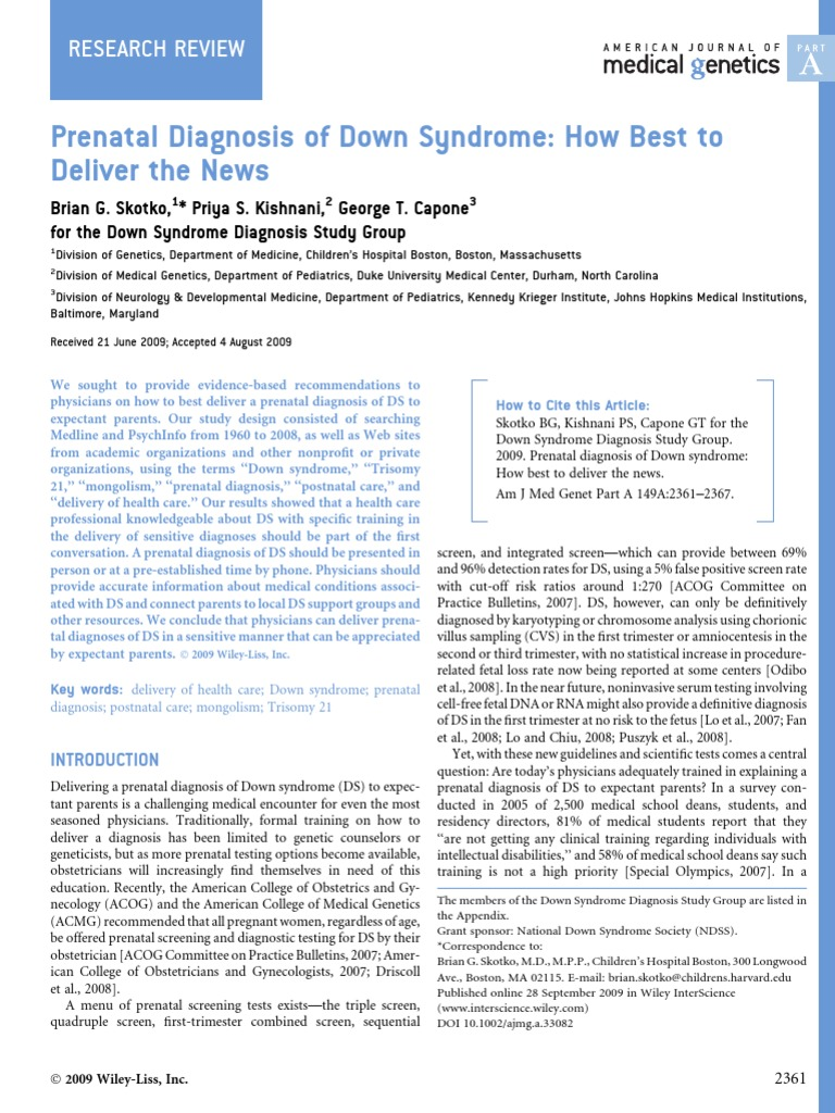 a review of prenatal diagnosis