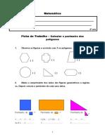 Ficha de Matemática - 4º.