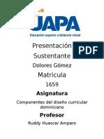 Componentes al diseño curricular dominicano Dolores Gomez.docx