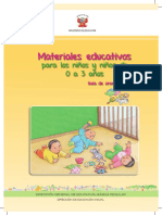 Guia Materiales Educativos 0 3 Anos Ministerio de Educacion Peru