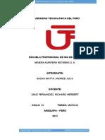 Universidad Tecnológica Del Perú Mineria Aurifera Retamas