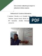Evidencias de Las Acciones Realizadas Para Lograr La Canalización de Dichos Usuarios Municipio Ocaña