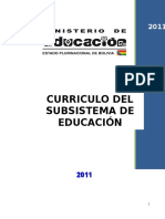 Curriculo Del Subsistema de Educación Regular