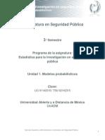 Unidad 1. Modelos Probabilisticos