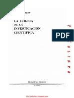 Páginas Desdepopper Karl La Logica de La Investigacion Cientifica