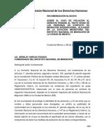 Comisión Nacional de Los Derechos Humanos 68-2016