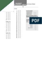 Optional Answer Sheet