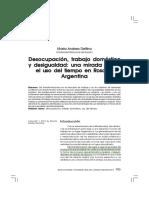 Delfino. Desocupación Trabajo Domestico y Desigualdad
