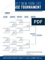 Men's ACC Basketball Tournament Bracket (Blank)