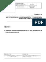1. Equipos Para La Fabricacion de Productos Liquidos No Esteriles
