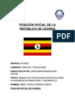 Posición Oficial de La República de Uganda