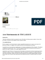 Acto Matrimmonia de TIM LAHAYE