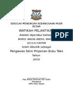Draf Watikah Pelantikan Pengawas Spbt Tahun 2015 Terkini