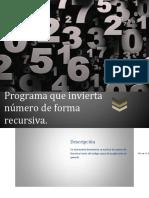 numeros invertidos utilizando recursividad