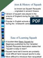 Squash - Individual Activiti