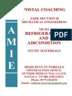 Mc411 Refrigeration and Airconditioning