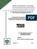 Estimacion parametros Sistemas de Excitacion Tesis Cipriano Moreno Dimas