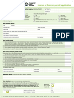 Licence or Learner Permit Application