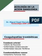 Semana 12b Farmacología de La Coagulación Sanguínea