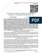 Performance of Statistics Based Line Segmentation  System for Unconstrained Handwritten Text