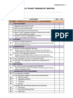 2013-3 Batch Plant Checklist