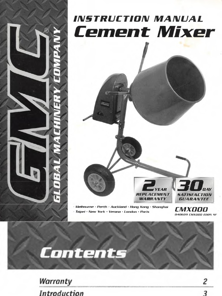 GMC Cement Mixer pdf | Belt (Mechanical) | Manufactured Goods