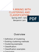 Very Very Important Data Mining and Clustering - Benjamin Lam 1