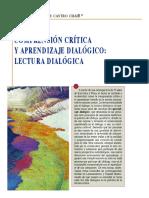 Aprendizaje Dialogico y  Comprensión Crítica
