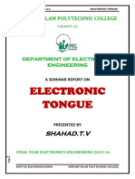 Electroni Tongue Seminar Report