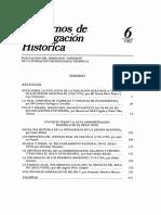 Cuadernos de Investigación Histórica 6