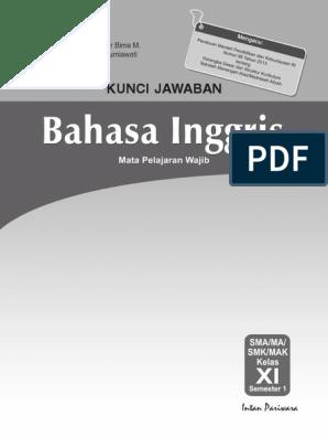 Kunci Jawaban Pr Bahasa Inggris 11a Revisi Bp