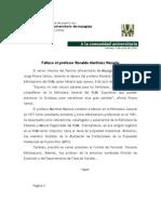 Comunicado-Deceso Ronaldo Martínez