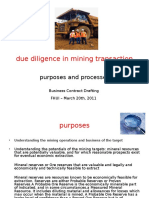 Due Dilligence in Mining Transaction