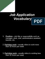 Job Application Vocab