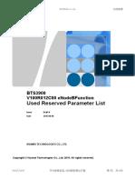 BTS3900 V100R012C00 ENodeBFunction Used Reserved Parameter List Draft B (2016!08!08)