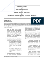 Recommendations-Against Sexual Exploitation of Penan Women and Girls