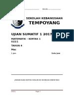 Matematik Kertas 1 Pi 2016 Daerah