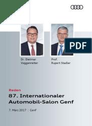 Reden Autosalon Genf 2017