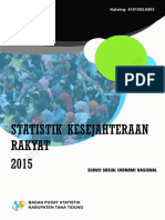 Statistik Kesejahtraan Rakyat Kabupaten Tana Tidung 2015
