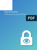 Data Governance Embracing Security and Privacy