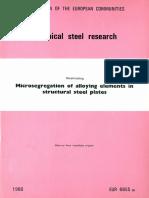 Microsegregation of Elements in Steel