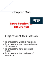 Insurance Chapter One