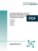 A Rapid and Systematic Review of the Clinical Effectiveness and Cost- Effectiveness of Orlistat in the Management of Obesity