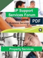 BSP Support Services Forum Presentation Feb-March